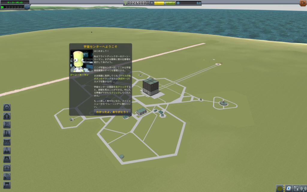 ゲーム開始直後の画面